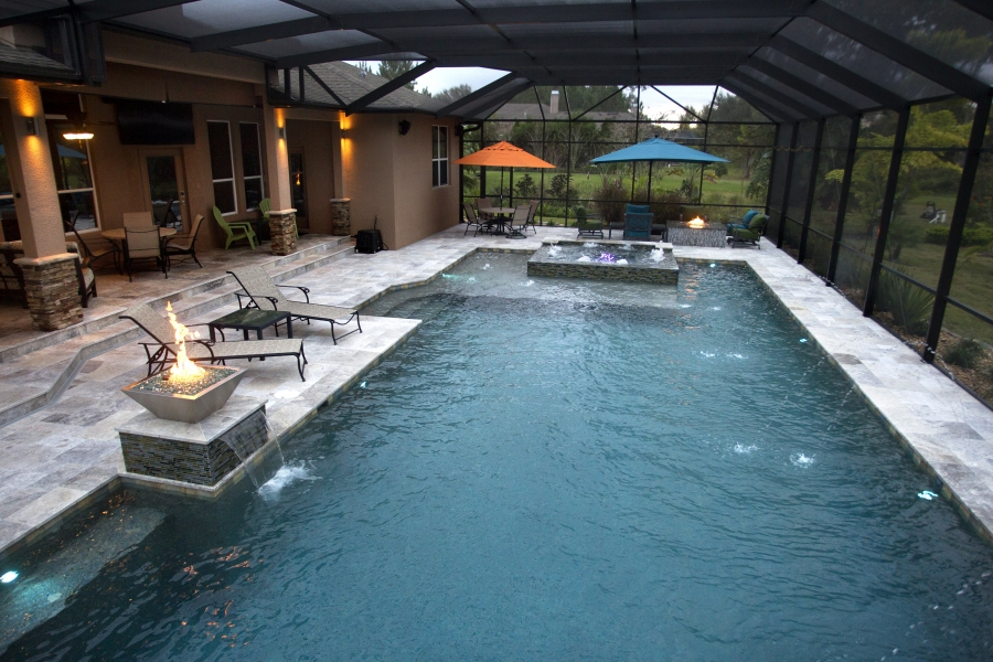 New Pool Construction Photo Gallery Grand Vista Pools
