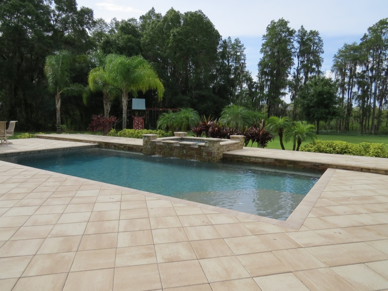 New pool construction photo gallery grand vista pools for New pool installation