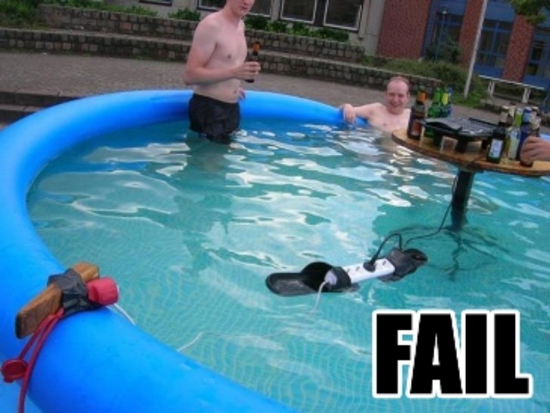 Don't do this in your swimming pool!