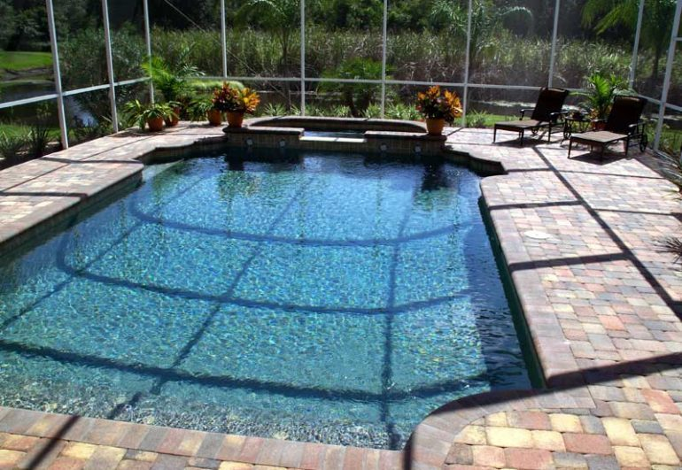 The tampa pool building process grand vista pools - Swimming pool construction process ...