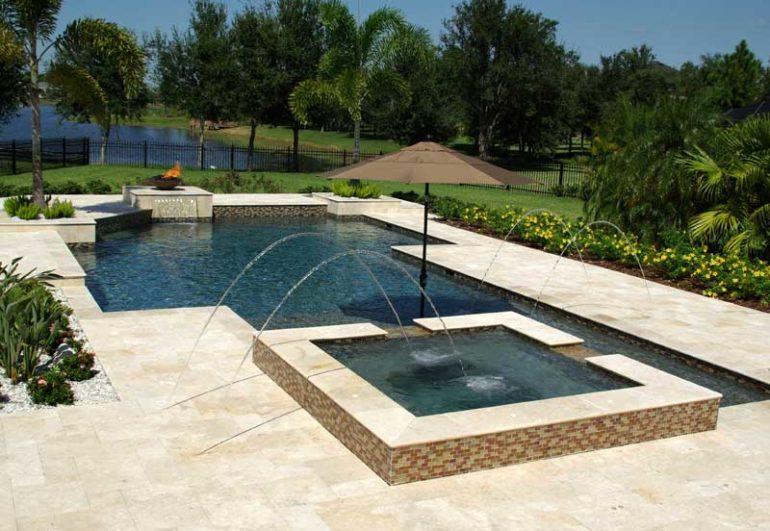 Trinity Swimming Pool Deck Ideas - Grand Vista Pools